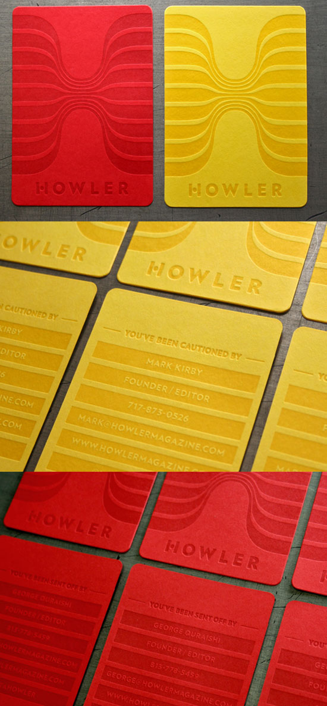 Howler Magazine Business Card