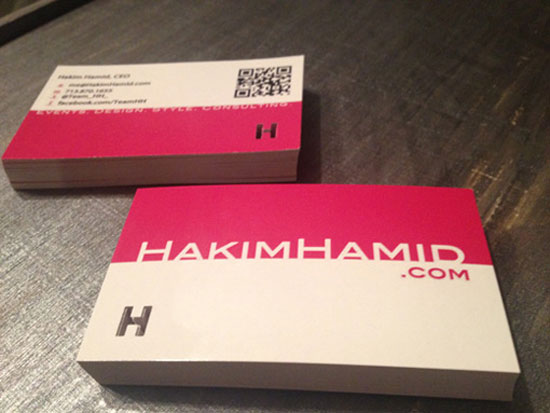 Hakim Hamid Business Card