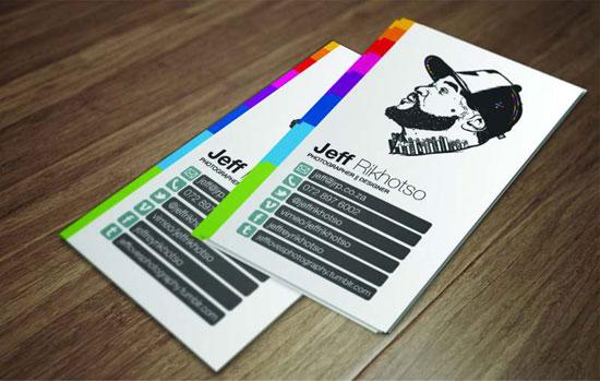 Jeff Rikhotso Business Card