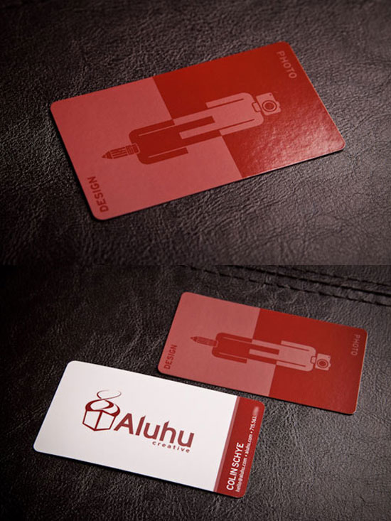 Aluhu Creative Business Card Inspiration
