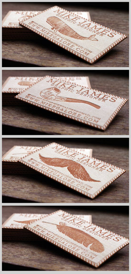Balsa Wood Business Card Inspiration