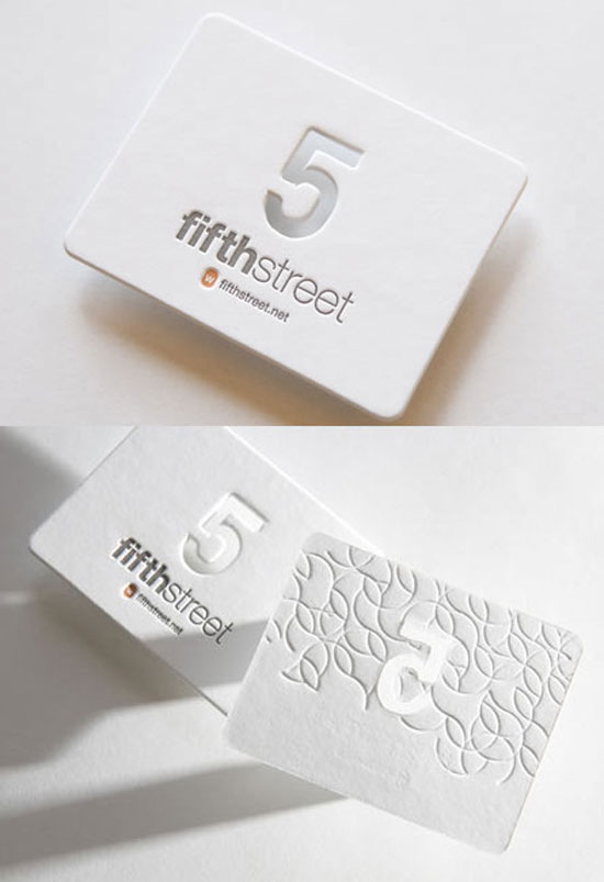Fifth Street Business Card Inspiration