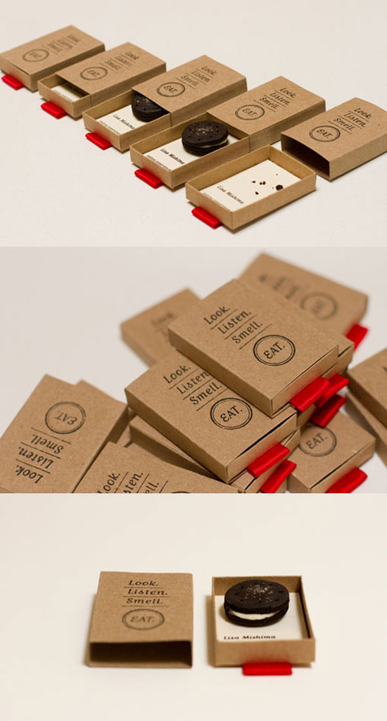 Look. Listen. Smell. Eat. Business Card Inspiration