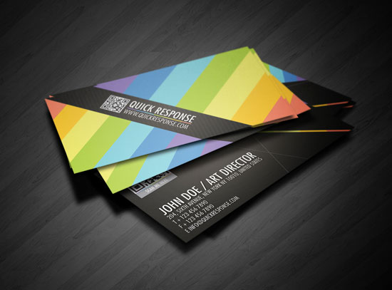 Quick Response Best Business Card Designs   300 Cool Examples And Ideas
