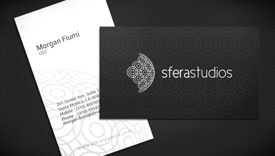 Sfera studios Business Card Inspiration