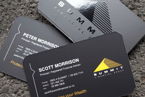 Summit Financial Business Card Inspiration
