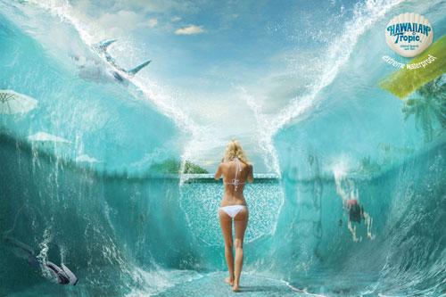 Hawaiian-Tropic --- Extreme-waterproof-2 Ideas publicitarias: 500 anuncios creativos y geniales