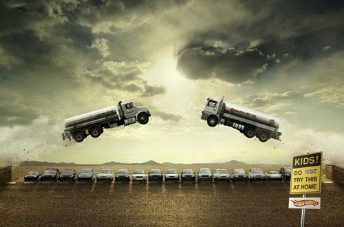Ideas publicitarias de Hotwheels-3: 500 anuncios creativos y geniales