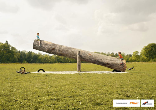 Stihl: ideas de publicidad más grandes: 500 anuncios creativos y geniales