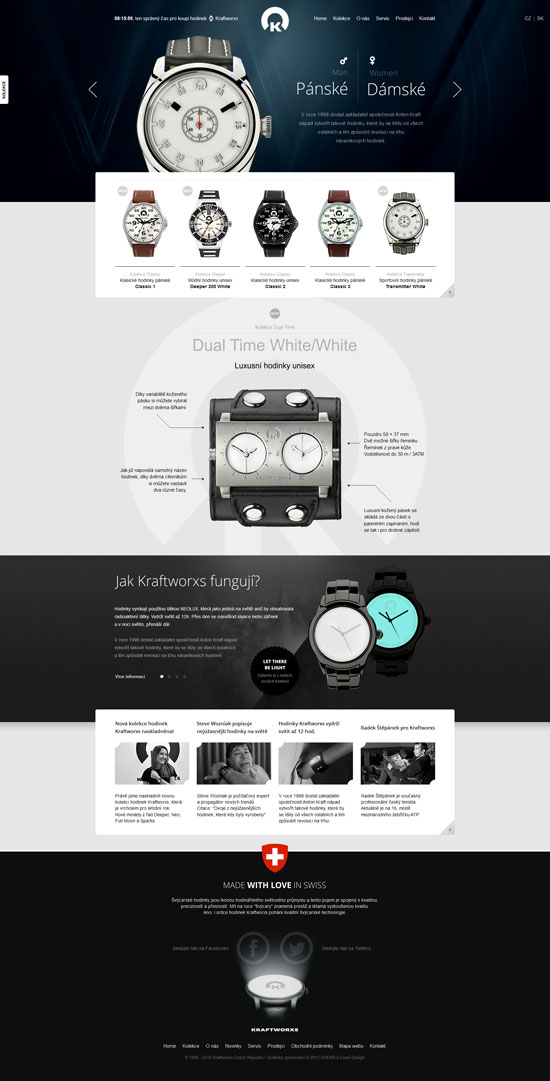 creative web design layouts to inspire you 31 examples. Black Bedroom Furniture Sets. Home Design Ideas
