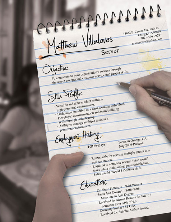 Matthew Villalovos Creative Resume Inspiration