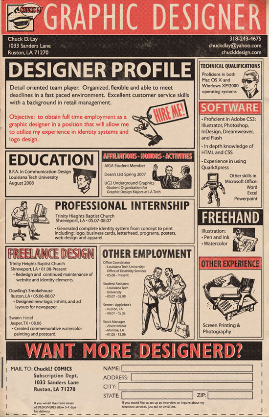 chuck d lay creative resume inspiration