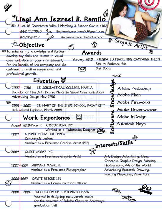 Liagi Ann Jezreel Creative Resume Inspiration