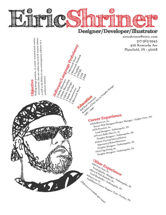 Eiric Shriner Creative Resume Inspiration