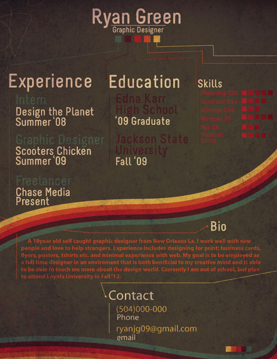 Ryan Green Creative Resume Inspiration