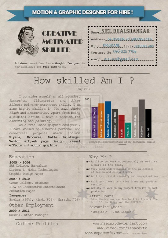 301981850 Graphic Design Resume: Best Practices And 51 Examples  Resume Designer Online