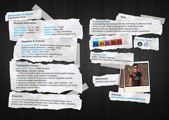 Mohd Almousa Creative Resume Inspiration