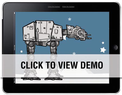 Pure CSS3 Animated AT-AT Walker from Star Wars