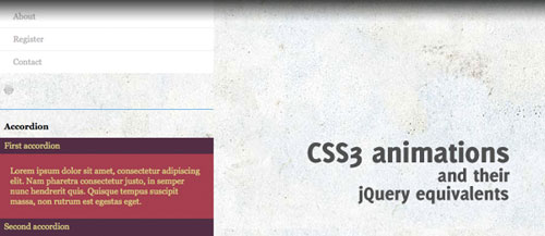 CSS3 animations and their jQuery equivalents