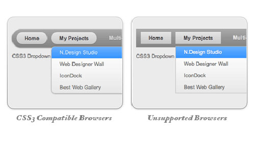 CSS3 Dropdown Menu