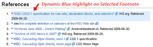 How to Dynamically Highlight Content Like Wikipedia Using CSS3