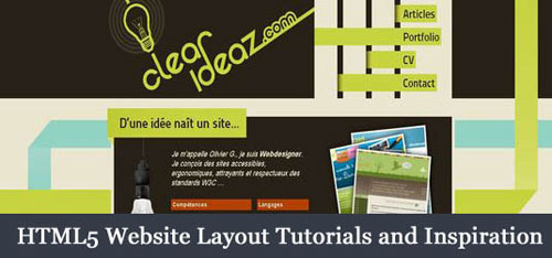 HTML5 Website Layout Tutorials and Inspiration