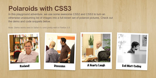 Easily Turn Your Images Into Polaroids with CSS3