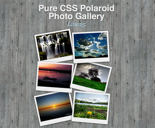 How To Create a Pure CSS Polaroid Photo Gallery