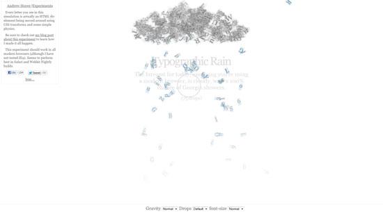 Typography Rain
