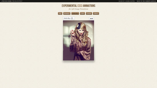 Experimental CSS3 Animations