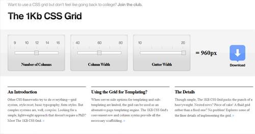 1kb grid CSS framework