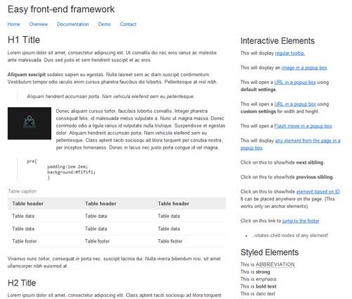 Easy CSS Framework