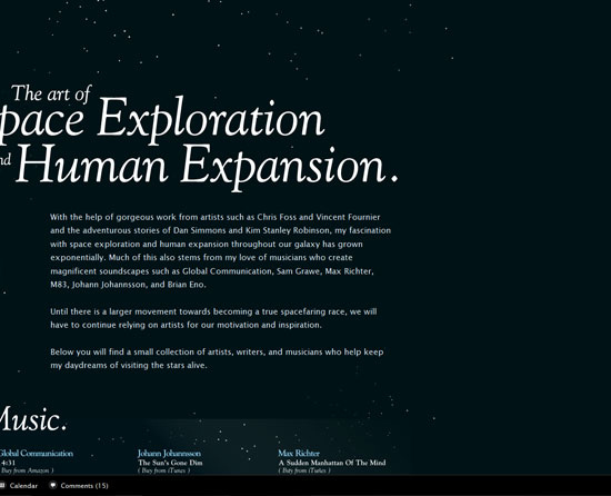 The Art of Space Exploration and Human Expansion Custom Post Design Inspiration