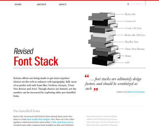 Awayback_com_revised Font Stack Custom Blog Posts Design Inspiration   50  Amazing Examples
