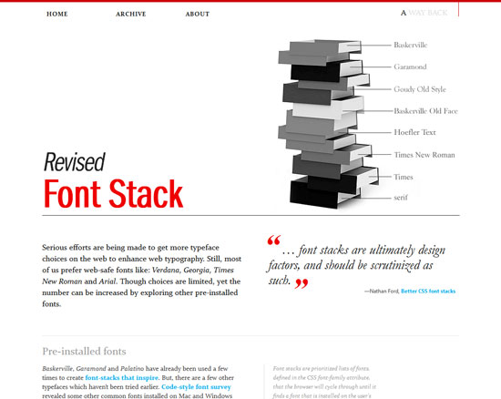 Revised Font Stack Custom Post Design Inspiration