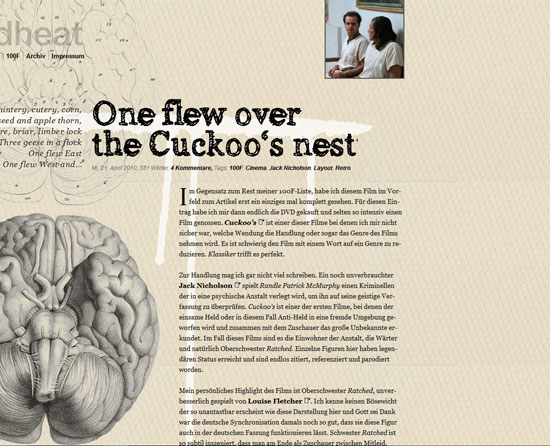 One flew over the Cuckoo's nest Custom Post Design Inspiration