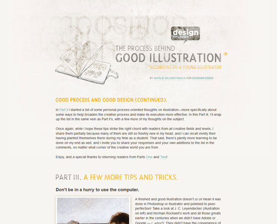 The Process Behind Good Illustration (Part 3) Custom Post Design Inspiration