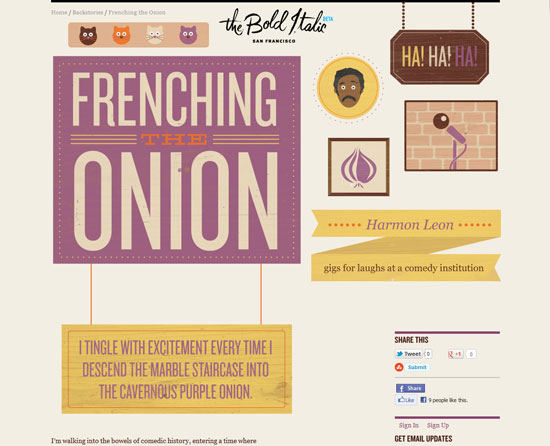 Frenching the Onion Custom Post Design Inspiration