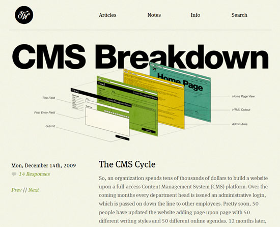 CMS Breakdown Custom Post Design Inspiration