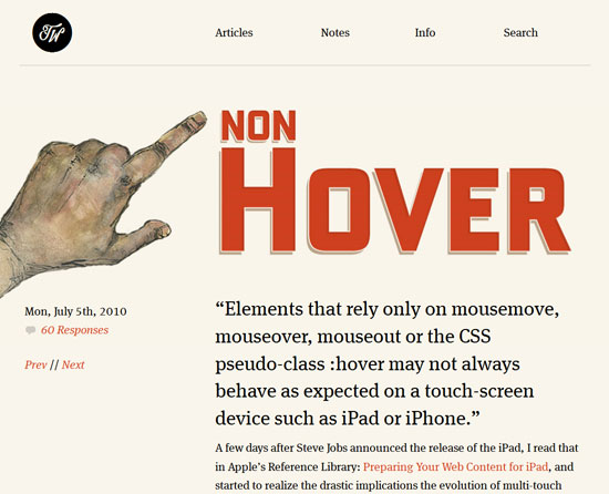 Non Hover Custom Post Design Inspiration