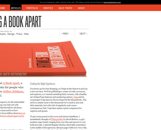Announcing A Book Apart Custom Post Design Inspiration