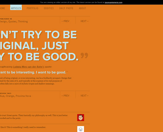 Don't try to be original, just try to be good. Custom Post Design Inspiration