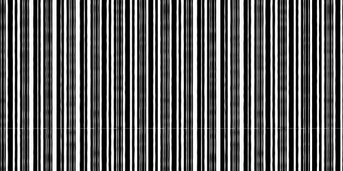 barcode tileable and seamless pattern