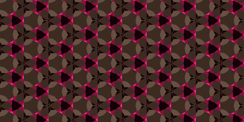 wild trefoil tileable and seamless pattern