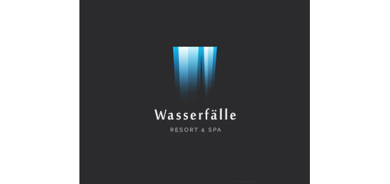 The waterfall Logo Design