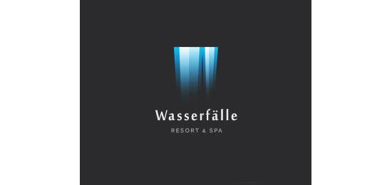 The waterfall Logo Design
