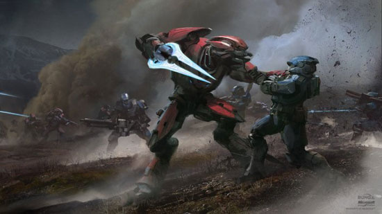 Halo Reach Drawing Illustration Inspiration