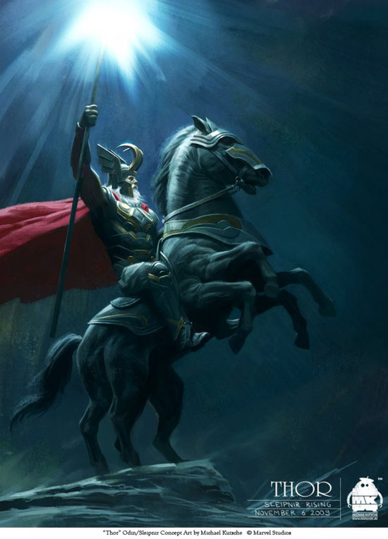 Thor - Odin and Sleipnir Drawing Illustration Inspiration