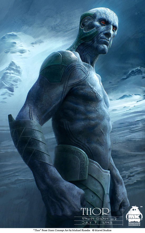 Thor - Frost Giant Concept Drawing Illustration Inspiration