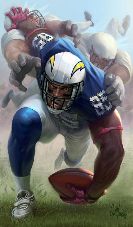 Antonio Gates Drawing Illustration Inspiration